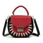 New Women Rivet Handbag Shoulder Bags Purse Messenger Satchel Bag Cross Body