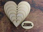 MDF Wooden Hearts Shape. 3mm thick MDF, craft and embellishments laser cut