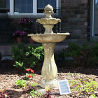 """45"""" 2-Tier Arcade Solar On Demand Water Fountain with LED Light"""