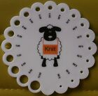 KNITTING NEEDLE GAUGE ROUND SHEEP -  Handy Tool accessory - AUSTRALIAN SELLER