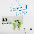 Wall Decal Tooth Brush Bright Smile Thumbs Up Bathroom Vinyl Decal Sticker kk688