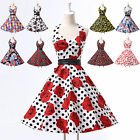ROCK N ROLL 1940's 50's Retro Style Vintage Floral Swing Jive Short Prom Dress