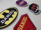 CUSTOM NAME PATCHES, SUPER HERO NAME PATCHES SEW ON PATCHES - BUY 5 + 1 FOR FREE