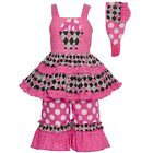 Sophias Style Exclusive Girls Pink White Dot Cupcake Birthday 3pc Outfit 2T-6X