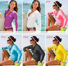 Women's UPF50+ long sleeve colourful spandex Scuba DivingSwimming Surfing shirt