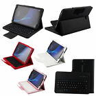 Detachable 2in1 Keyboard Cover Bluetooth Stand Leather Case For Samsung Tablet