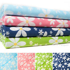 Daisy Fabric Flower Print Daisies Pink Blue White Polycotton Crafts