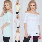 Women's Elbow Sleeve Strapless Blouse Off Shoulder Shirt Top Oversize FT2750