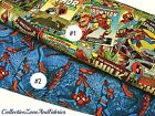COMIC BOOK HEROES FABRIC~BY THE YD~COMICS~THOR~HULK~SPIDERMAN~COTTON~COVERS