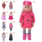 Hot Madame Handmade fashion Doll Clothes dress For 18 inch American Girl Doll LA