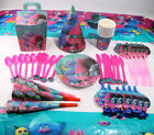 Trolls Poppy Kids Theme Birthday Party Decor Supplies Girls Favor Tableware Set