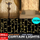 curtain light - LED Curtain Icicle String Light Wedding Christmas Holiday Decor Window Lighting