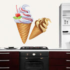Wall Decals Ice Cream Colorful Sticker Full Color Decal Kitchen Cafe Decor DD2