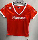 Tampa Bay Buccaneers Football Womens Ladies Lace Up V-Neck TShirt Blouse Jersey on eBay