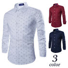 Men's Blouse hombres Camisa Hombres Ropa Long Sleeve shirt Printed shirt