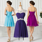 Chiffon Wedding Formal Evening Homecoming Party Gown Bridesmaid SHORT Prom Dress