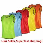 Внешний вид - Pack of 6 & 12  Soccer jersey Bibs Adult Sports team Scrimmage Training Vests