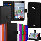 Leather Wallet Book Flip Case Cover Pouch For Nokia Lumia Mobile Phones