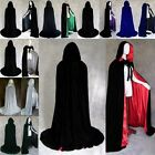 US Party Favors Halloween Witch Velvet Cloak Hooded Cape Wedding Costume Robe A