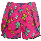 Real Love Little Girls Fuchsia Multi Color Butterfly Print Trimmed Shorts 4-6X
