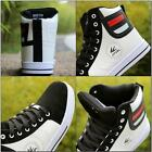 Men Round Toe High Top Sneakers Casual Lace Up Skateboard Shoes New Sports Hot