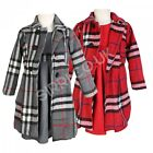 Toddler Fashion Coat Dress Hat Girls Grey Red Formal Coats Clothes Set