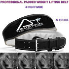 back support Weight lifting bodybuilding weightlifting Leather Belt 4""