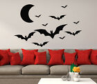 Delighted Halloween Wall Decals Many Bats Flying Decals Abode Decor Dorm Window aa378