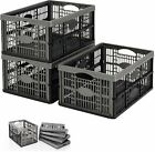 Collapsible 32 Litre Plastic Storage Crate Box Stackable Home Garage Warehouse