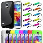 S LINE CASE COVER FITS SAMSUNG GALAXY S5 SM-G900F + SCREEN PROTECTOR AND STYLUS
