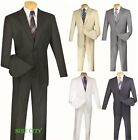 Men's Suit Single Breasted 2 Buttons Classic Fit 2 Piece Solid Colors 2AA