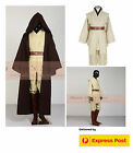 Obi-Wan Deluxe Star Wars Jedi Knight Master Tunic Suit Costume Cosplay 7pc Set