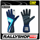 FIA OMP FIRST EVO Gloves Super Race Rally Motorsport Blue Cyan Driving 8856