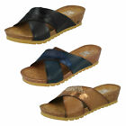Ladies Down To Earth Navy Mule Style F10713