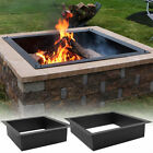 Sunnydaze Square Heavy Duty Fire Pit Rim DIY In-Ground Fire Pit - Multiple Sizes