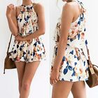 Summer Beach Playsuit Party Jumpsuit Romper Short Pant Trousers