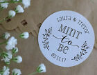 MINT TO BE sweet bags cone wedding stickers personalised love hearts favours S11