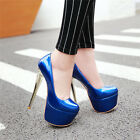 Fashion Women Extreme High Heels 16cm Platform Sexy Stiletto Pumps Party Shoes