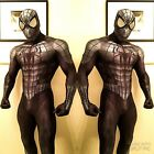 Black Spiderman Costume Halloween Cosplay Superhero Spider Zentai For Adult /Kid