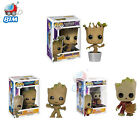 Cute Baby Groot Figure Marvel Guardians Galaxy Dancing POP Funko Model Toy Game