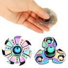 Colorful Tri Fidget Hand Spinner Triangle Brass Finger Toy EDC Focus ADHD Autism