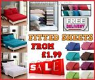 FITTED SHEET PERCALE SINGLE 4FT SMALL DOUBLE KING SUPER KING SIZE OR PILLOWCASE image