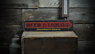 Custom Beer & Liquor Tavern Arrow - Rustic Handmade Vintage Wood Sign