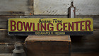 Bowling Center, Custom Spare-Time - Rustic Distressed Wood Sign ENS1001418