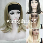 Ladies Long Straight Wig cosplay 3/4 Half wig headband Fancy dress + Wig Cap