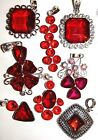RED GARNET & SILVER SELECTION CHOICE NECKLACES LADIES GIFT IDEA