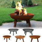 Rustic Fire Pit Bowl, Cast Iron, Portable, Durable, Outdoor - Multiple Sizes