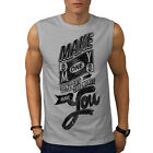 TShirts - Make Money Dollar Slogan Men Sleeveless Tshirt S2XL NEW Wellcoda