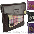 NEW Ladies LEATHER & British Tweed Cross Body BAG by MALA Abertweed Collection