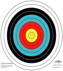 SAS 10-Ring Paper Target Face High Quality Paper Material Approx. 60 cm/ 24 in
